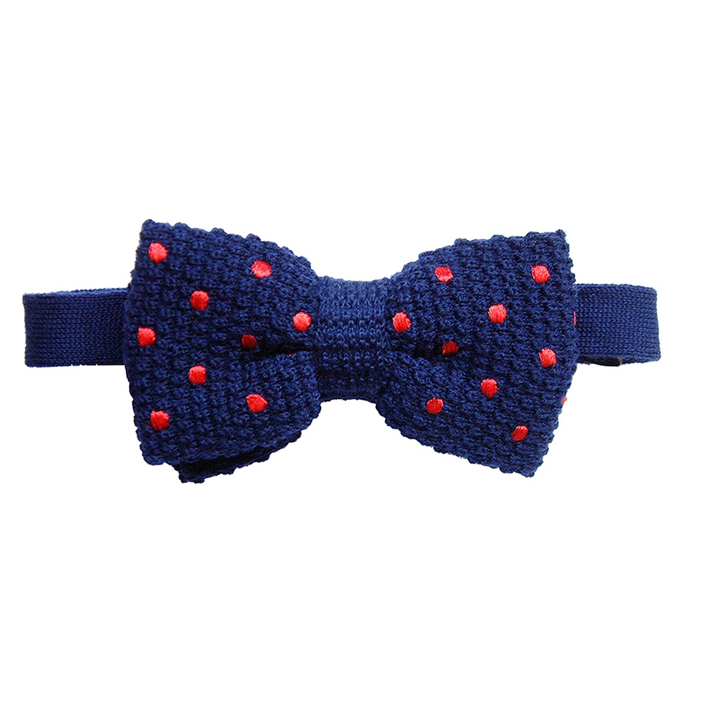 Buy tyler tyler knitted silk spot bow ties at the shirt - Tricoter noeud papillon laine ...