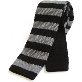 Knitted Striped Wool Tie