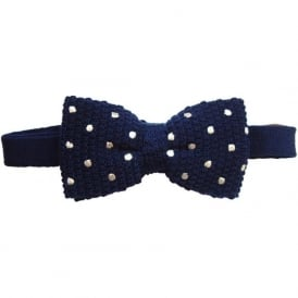 Knitted Wool Spotted Bow Tie