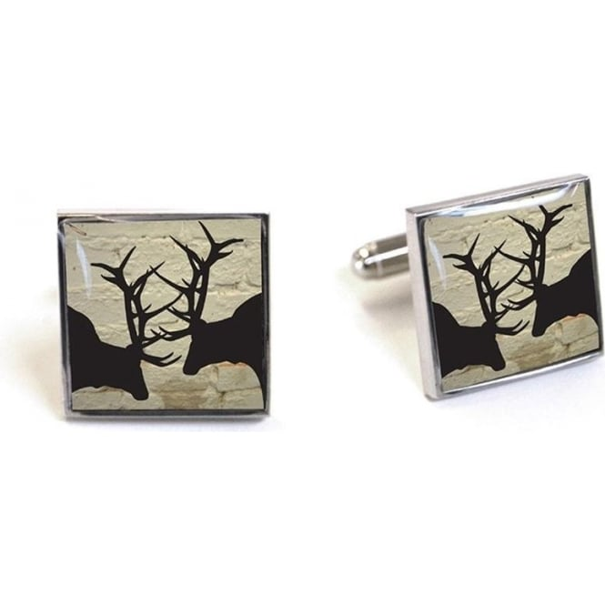 TYLER & TYLER Rutting Stags Cufflinks