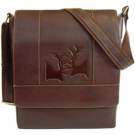 Rutting Stags Leather Messenger Bag