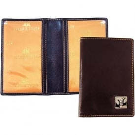 Rutting Stags Leather Travel Card Holder