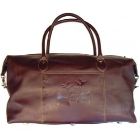 Rutting Stags Leather Weekender Bag