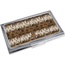 Snake Print Enamel Business Card Holder