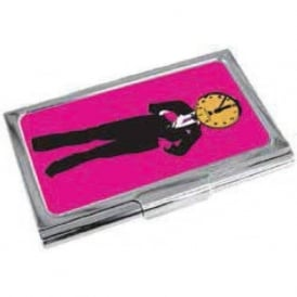 Time Man Enamel Business Card Holder