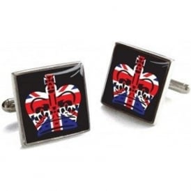 Union Jack Crown Cufflinks