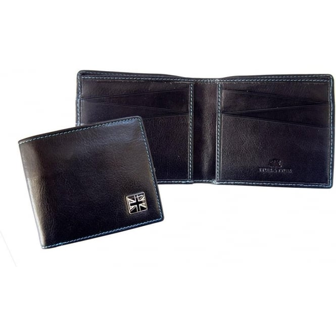 TYLER & TYLER Union Jack Leather Bill Fold Wallet