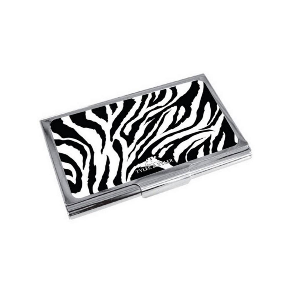 Zebra Print Enamel Business Card Holder|Tyler & Tyler|TheShirt Store